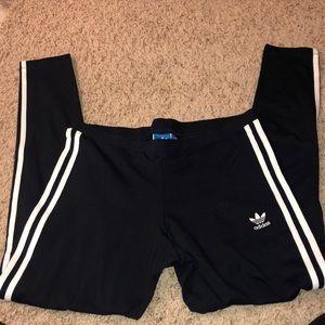 Adidas striped leggings NWT